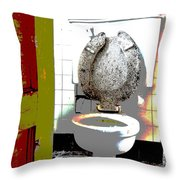 Dirty Seat Throw Pillow by Luke Moore