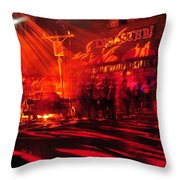 Disaster In The Streets Throw Pillow