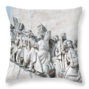 Discovery Monument Lisbon Portugal Throw Pillow