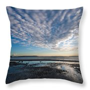 Discovery Park Beach Sunset Throw Pillow