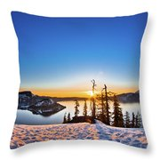 Discovery Point Sunrise Throw Pillow