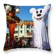 Disneyland Halloween 1 Throw Pillow