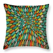 Disperse Throw Pillow by Ankeeta Bansal