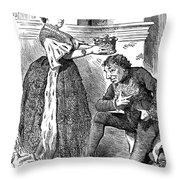 Disraeli Cartoon, 1876 Throw Pillow
