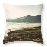 Distant Conversations Throw Pillow by Cindy Garber Iverson