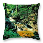 Distant Ozone Falls And Rapids - Summer Throw Pillow