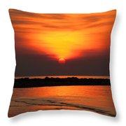 Distant Sun Throw Pillow