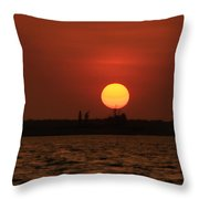Distant Sunset Throw Pillow