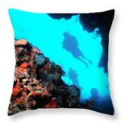 Diver Down Throw Pillow