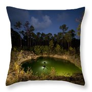 Divers Surface After Collecting Throw Pillow