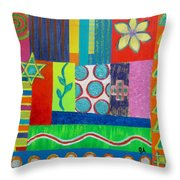 Diversity Has Proven God Is Love V2 Throw Pillow by Jeremy Aiyadurai