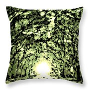 Divine Light Throw Pillow