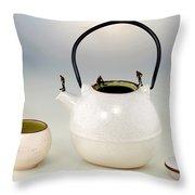 Diving On Tea Pot And Cup Throw Pillow