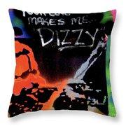 Dizzy Love Throw Pillow
