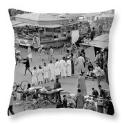 Djemaa El Fna Marrakech Morocco Throw Pillow