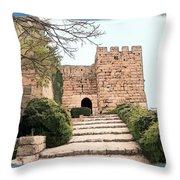Do-00483 Byblos Citadel Throw Pillow