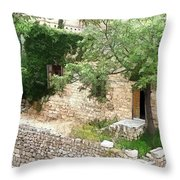Do-00486 Old House From Citadel Throw Pillow