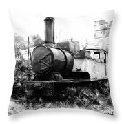 Do-00508 Mar Mikhael Train Bw Throw Pillow