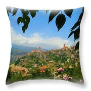 Do-00547 Town Of Bcharre Throw Pillow