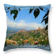 Do-00548 Town Of Bcharre Throw Pillow