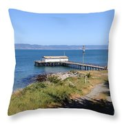 Dock At Point Reyes Calfornia . 7d16069 Throw Pillow
