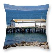 Dock At Point Reyes Calfornia . 7d16070 Throw Pillow