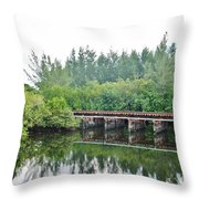 Dock On The North Fork River Throw Pillow
