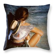 Dockside Daydreaming Throw Pillow