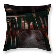 Doctor - Civil War Instruments Throw Pillow