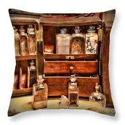 Doctor - The Medicine Cabinet Throw Pillow