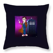 Doctor Who And Tardis Throw Pillow