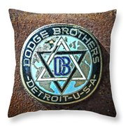Dodge Brothers Badge Throw Pillow by Steve McKinzie