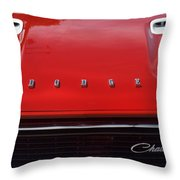 Dodge Challenger Hood And Grill Throw Pillow