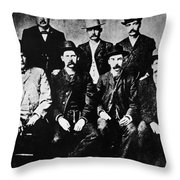 Dodge City Commission Throw Pillow