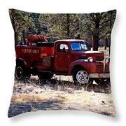 Logging Fire Truck Throw Pillow