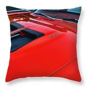 Dodge Super Bee Hood  In Red Throw Pillow