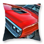 Dodge Super Bee In Red Throw Pillow