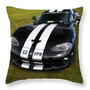 Dodge Viper Throw Pillow