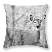 Doe A Deer. Throw Pillow
