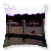 Dog Gone It They Left Without Me Throw Pillow by Donna Bentley