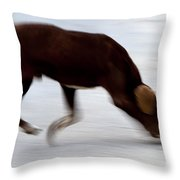 Dog In Motion Throw Pillow
