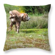 Dog Making A Pee Throw Pillow