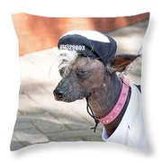 Dog On A Bad Luck Day Throw Pillow