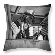 Dog On The Campaign Trail Throw Pillow