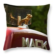 Dog On Truck  Throw Pillow