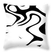 Doggy Style Black On White Throw Pillow