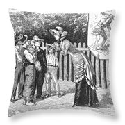 Dogs, 19th Century Throw Pillow
