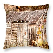 Dogs Back At The Cabin Throw Pillow