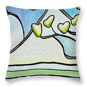 Dogwood Stained Glass I Throw Pillow