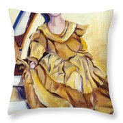 Doll On Canvases  Throw Pillow